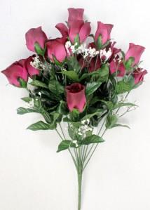 Б234 букет роза бутон 14гол*10шт*49см
