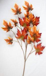 Лист дуба латекс осень 62см
