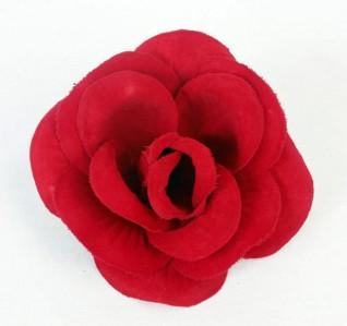 Г429 гол.роза бархат.Яркая d15см