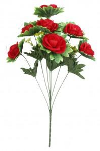 Букет бархатной розы с розеткой7гол 20шт 60см