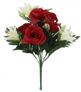 Букет роза 12гол 12шт 45см